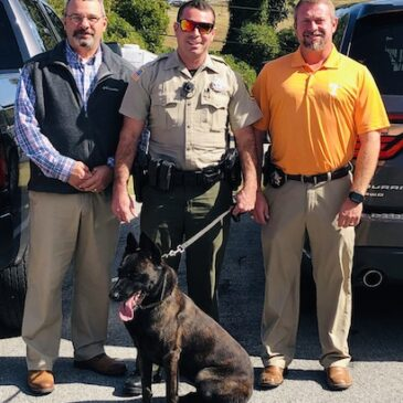 Chief Deputy Chris White, Deputy DJ Taylor, & Sheriff Tommy Jones