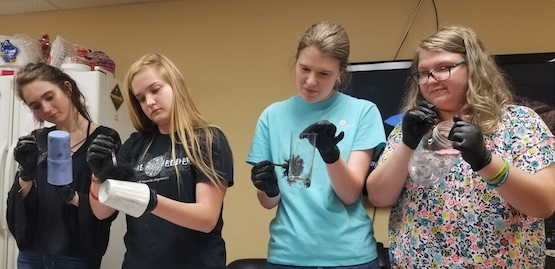 Students experience the fingerprinting process